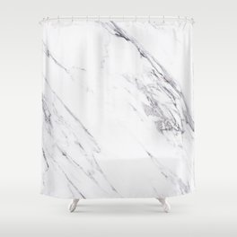 Marble - Classic Real Marble Shower Curtain
