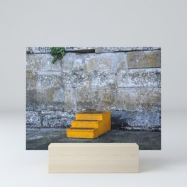 Yellow Steps Mini Art Print