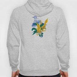 Midnight blooms - Asian paradise fly catcher bird Hoody