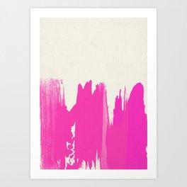 Pink Paint Layers Art Print