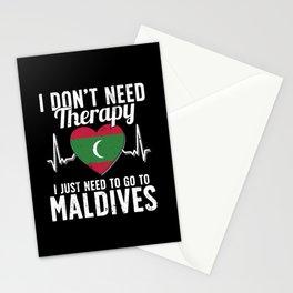 Maldives flag I Maldivian Souvenirs Stationery Cards