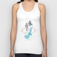 ariana grande Tank Tops featuring Raccoon Love by Ariana Perez