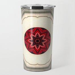 Tile Red Mandala Travel Mug
