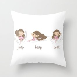 BellaRina - Jump, Leap, Twirl Throw Pillow