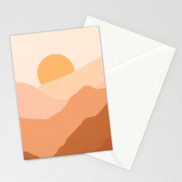 Warm Sunset Stationery Cards