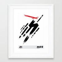 ninja Framed Art Prints featuring Ninja by Metanet Software