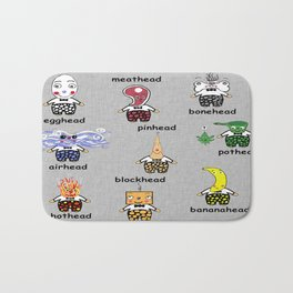 Weird and Wacky Head Types Bath Mat