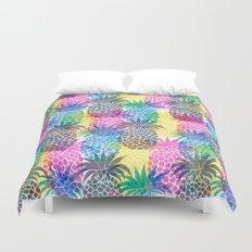 Pineapple CMYK Repeat Duvet Cover
