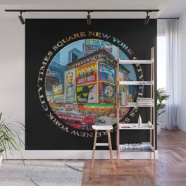 Times Square III Special Finale Edition badge on black Wall Mural