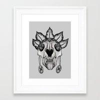 animal skull Framed Art Prints featuring Animal skull by SilviaGancheva