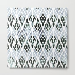Marble Leaves Metal Print