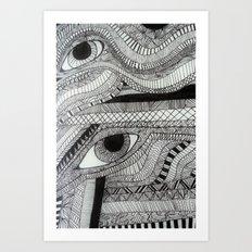 2 eyes Art Print