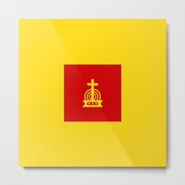 Henny Maestro - Red on Yellow Metal Print