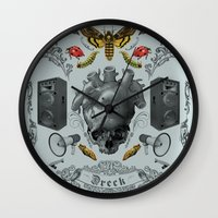 rorschach Wall Clocks featuring Rorschach by Dreck Design