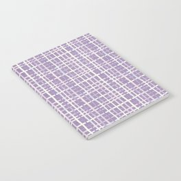 Violet Gingham Notebook