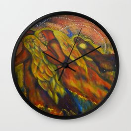 Heavenly Messengers Wall Clock