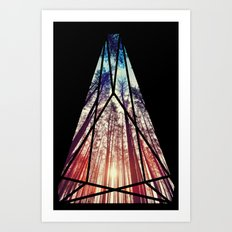 Stained Glass Forest  Art Print