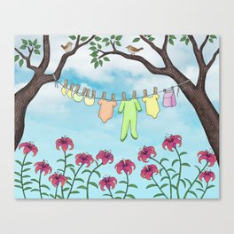 clean baby, happy home Canvas Print
