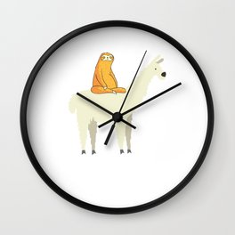 Adorable Sloth & Llama Friends Wall Clock