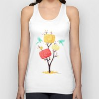 autumn Tank Tops featuring Autumn by Freeminds