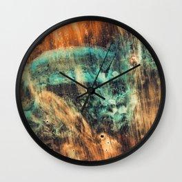 Riddick's world - watercolor painting Wall Clock