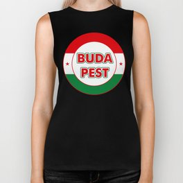 Budapest, circle, color Biker Tank