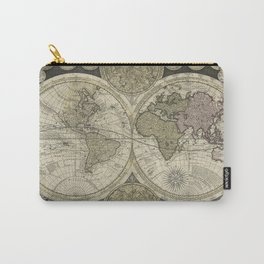Terrestrial Planisphere Globe Carry-All Pouch