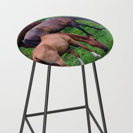 Grazing Horses Bar Stool