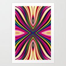 X Fractal Art Print