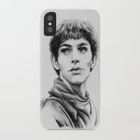 merlin iPhone & iPod Cases featuring Merlin by Anna Tromop Illustration