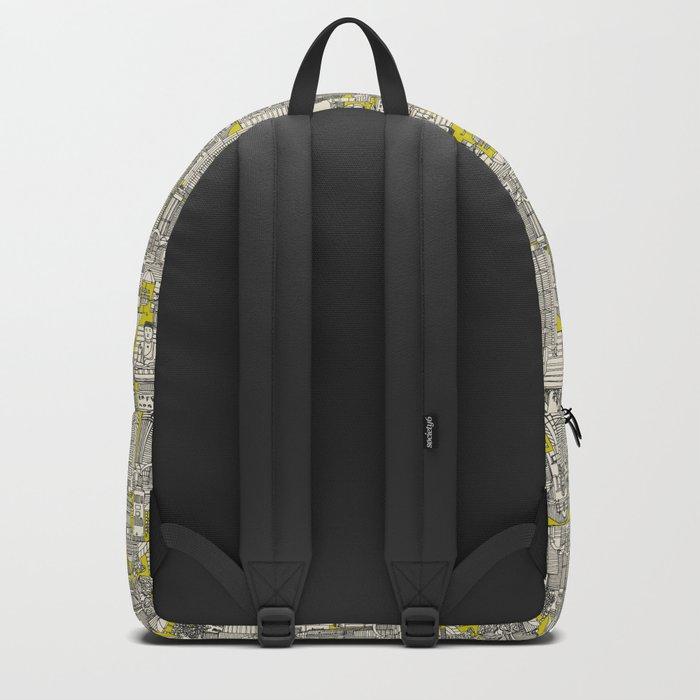 Hong Kong toile de jouy chartreuse Backpack