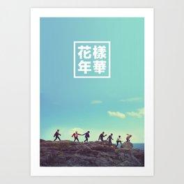 BTS + RUN Art Print