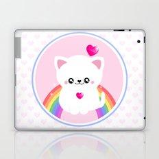 Super Cute Retro Rainbow Sparkle Kitty Laptop & iPad Skin