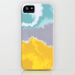 Chrome on Fire Liquefied Reflection Abstract Digital Painting iPhone Case