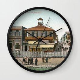 Vintage Egypt, port Said Commerce Street Wall Clock