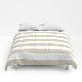 Beach Sand and White Stripes Comforters