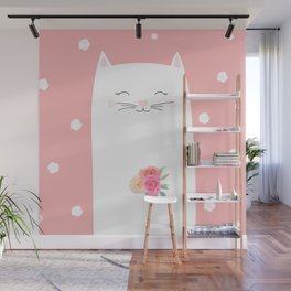 cat bride Wall Mural