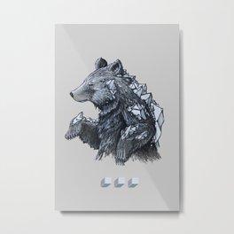 Grizzly FLO Metal Print