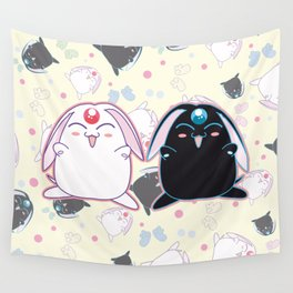 Black & White Mokona Wall Tapestry