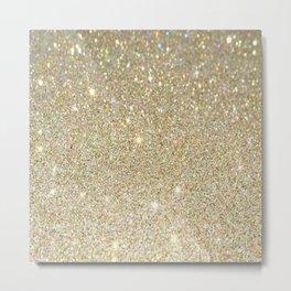 Cream Glitter Art Metal Print