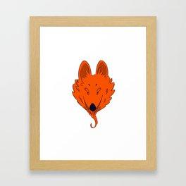Insidious Wolf Framed Art Print