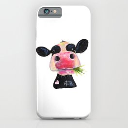 CoW PRiNT ANiMaL PRiNT ' HuRLeY BuRLeY ' BY SHiRLeY MacARTHuR iPhone Case