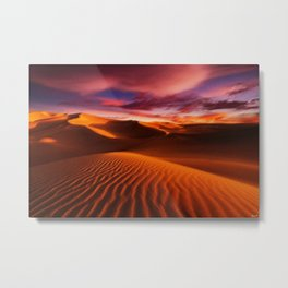 Arabian Sands Sunset Landscape by Jeanpaul Ferro Metal Print