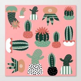 Succulents Pink Canvas Print