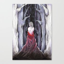 Meet Me in the Woods Canvas Print