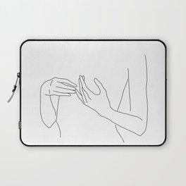Line Hands 2 Laptop Sleeve