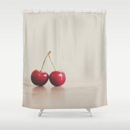 a double cherry photograph Shower Curtain