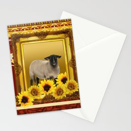Frame Design yellow Sheep Stationery Cards