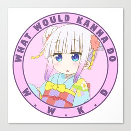 What Would Kanna Do? Canvas Print