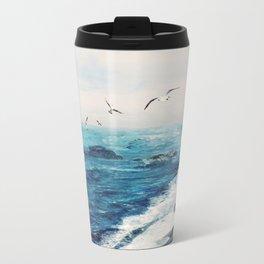 Watercolor Coast Travel Mug